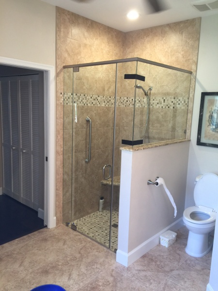 glass door and shower enclosure