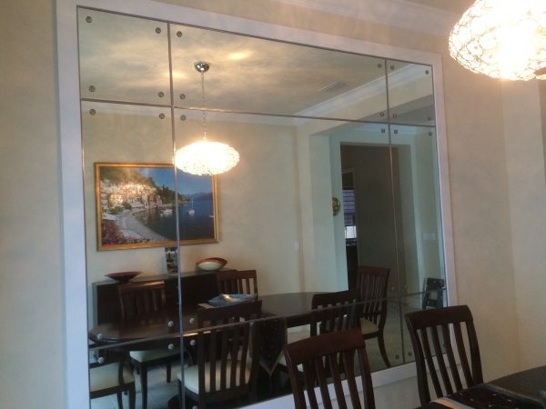beautiful dinning room wall mirror
