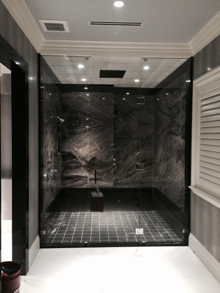 beautiful custom shower glass