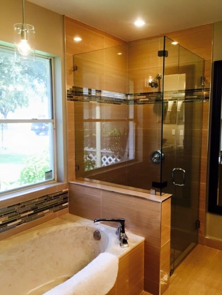 beautiful custom shower glass enclosure