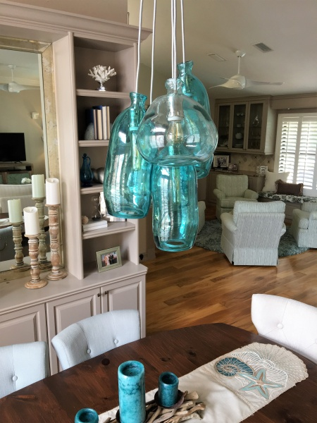 beautiful specialty glass chandelier