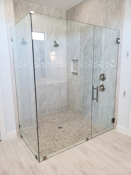 beautiful full glass shower enclosure